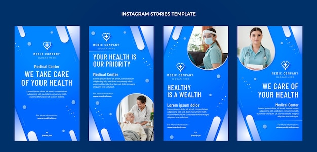 Histoires instagram médicales dégradées