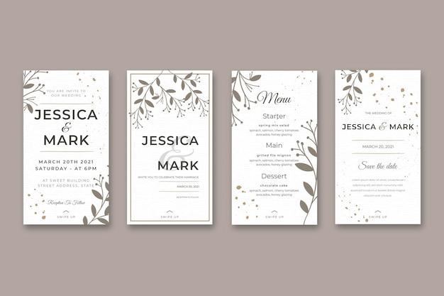 Histoires instagram minimales de mariage