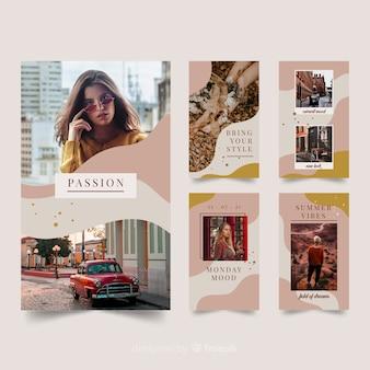 Histoires instagram modèles de mode