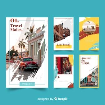 Histoires instagram modèles de voyage