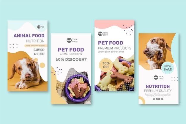 Histoires instagram de nourriture animale