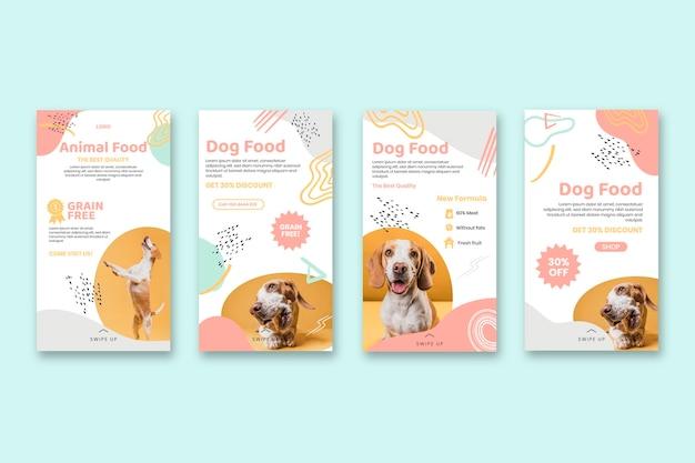 Histoires instagram sur la nourriture animale