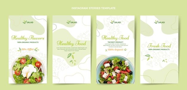 Histoires instagram de nourriture dessinées à la main