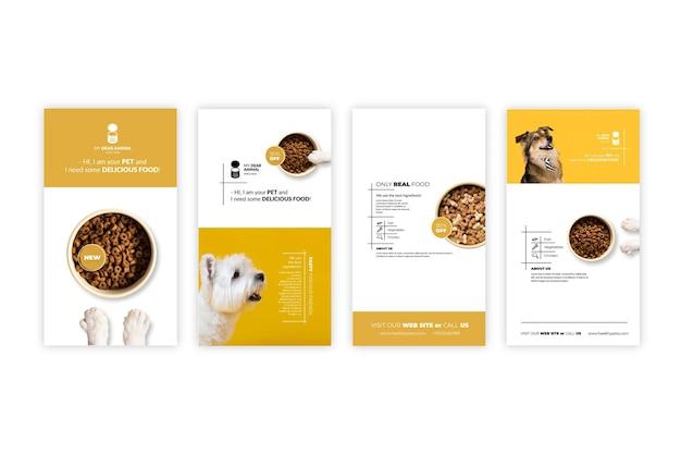 Histoires d'instagram de nourriture pour animaux