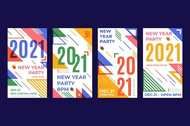 Histoires instagram pour la fête du nouvel an 2021