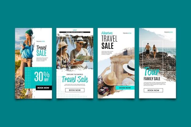 Histoires instagram pour les ventes itinérantes