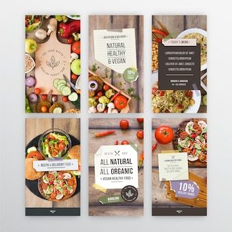 Histoires instagram de restaurants végétariens