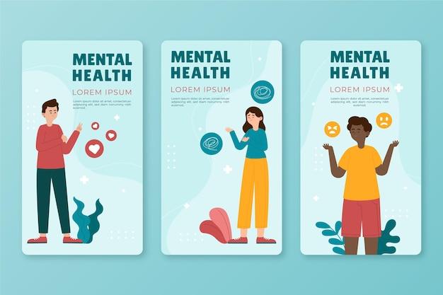 Histoires instagram de santé mentale à plat