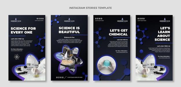 Histoires instagram de science du gradient