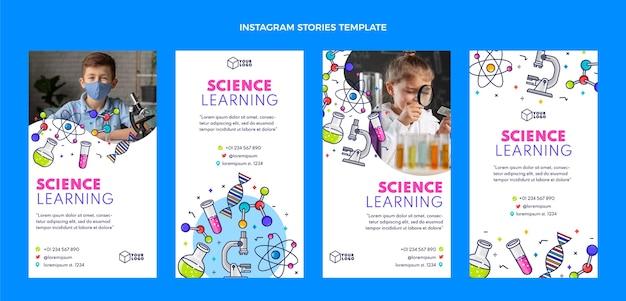 Histoires instagram de science plate