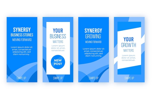 Histoires instagram de synergy business