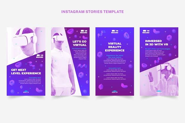 Histoires instagram de technologie de demi-teinte dégradée