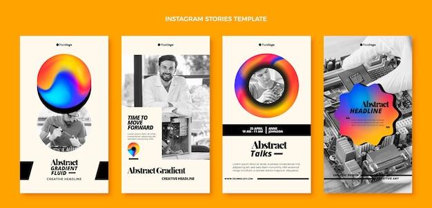 Histoires instagram de technologie fluide abstraite dégradée