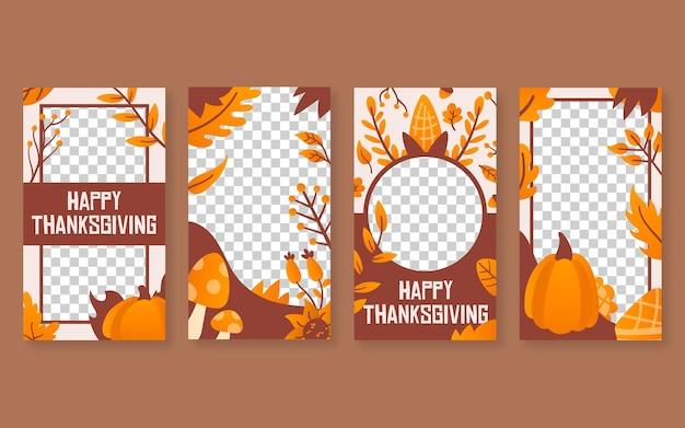 Histoires instagram de thanksgiving design plat