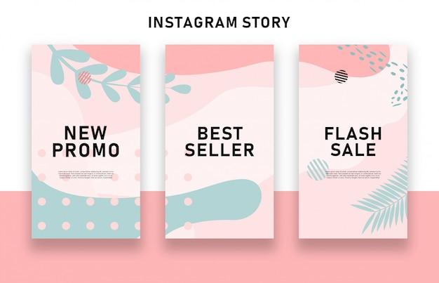 Histoires instagram de vente abstraite colorée