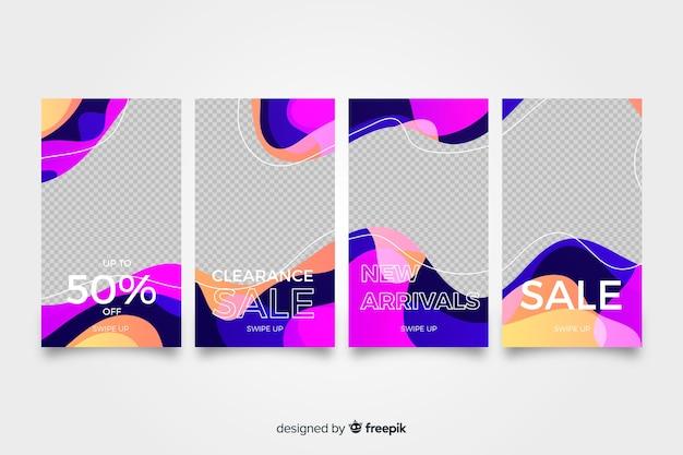 Histoires instagram vente abstraite colorée