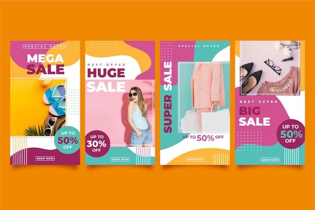 Histoires instagram de vente colouful
