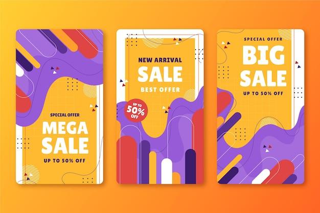 Histoires instagram de vente dessinées à la main