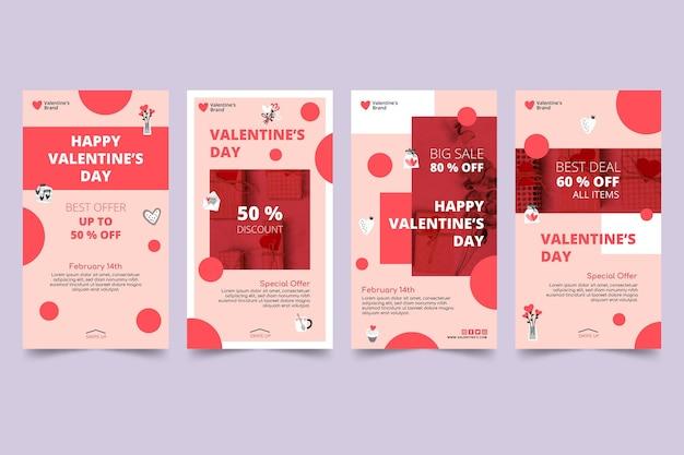 Histoires instagram des ventes de la saint-valentin