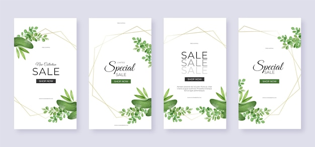Histoires instagram de ventes spéciales