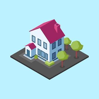 Histoires maison isométrique