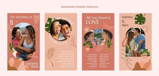 Histoires de mariage dessinées à la main