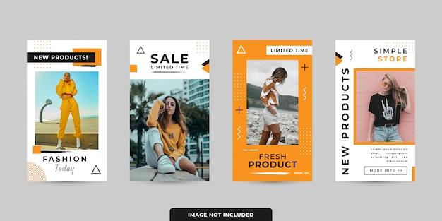 Histoires de médias sociaux template pack vector