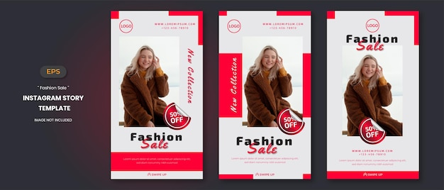 Histoires de médias sociaux de vente de mode