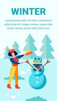Histoires publicitaires sur les loisirs d'hiver médias sociaux