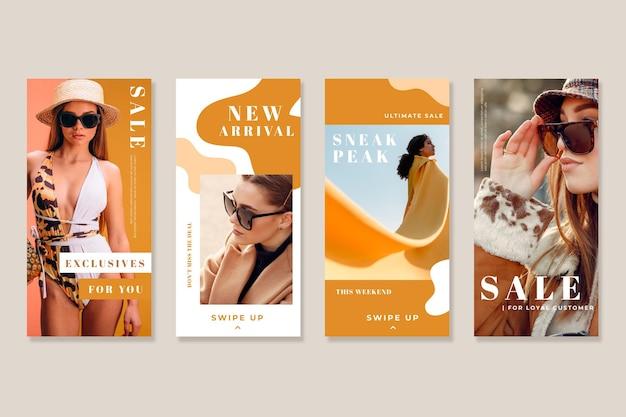 Histoires de vente instagram bio d'été