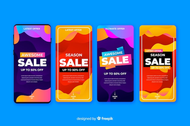 Histoires de vente instagram