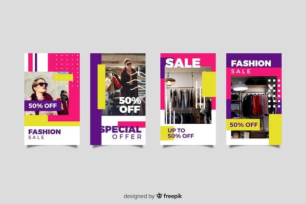 Histoires de vente de mode abstraite instagram