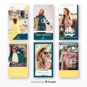 Histoires de vente de mode instagram