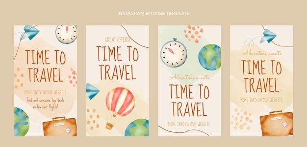 Histoires de voyage à l'aquarelle