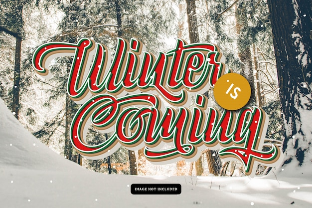 L'hiver arrive carte de voeux