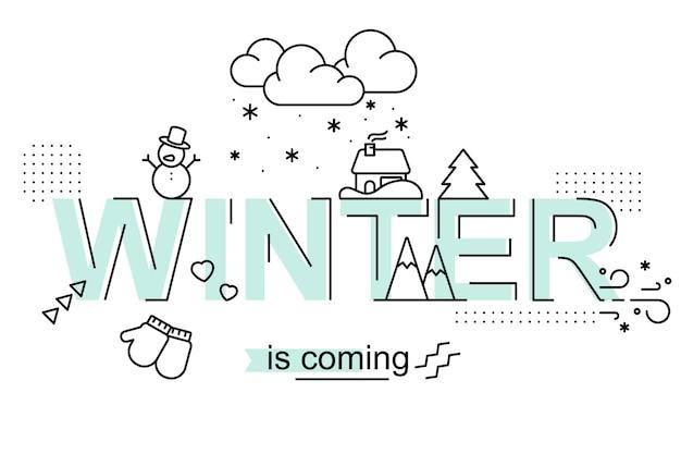 L'hiver arrive. conception de la saison
