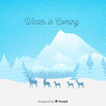 L'hiver arrive à fond
