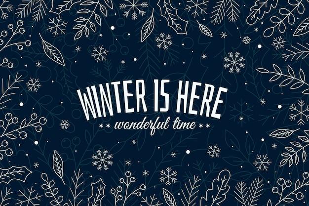 L'hiver est ici fond dessiné