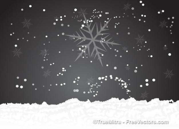 Hiver avec des flocons de neige fond