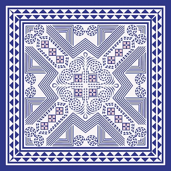 Hmong fond géométrique