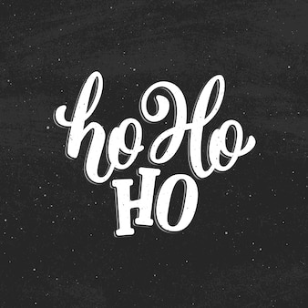 Ho-ho-ho carte de voeux de noël