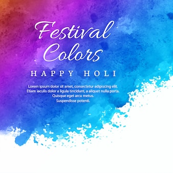 Holi festival coloré fête fond