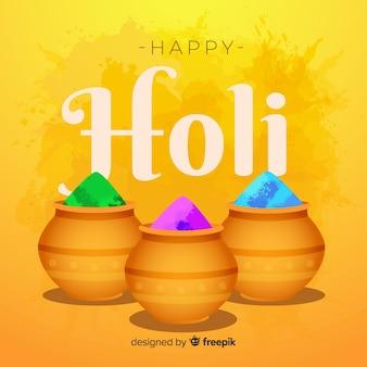 Holi festival fond de pot gulal