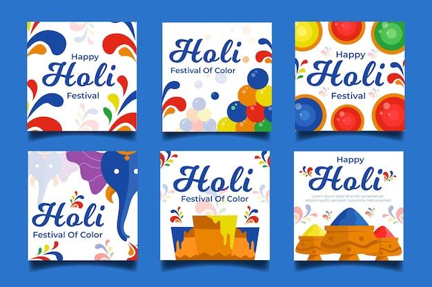 Holi festival instagram histoires design artistique