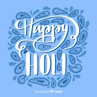 Holi festival lettrage de fond