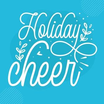 Holiday cheer premium winter lettrage vector design