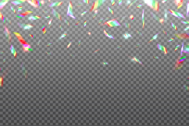 Hologram glitch rainbow. feuille métallique irisée brillante de cristal isolée. illustration d'effet hologramme