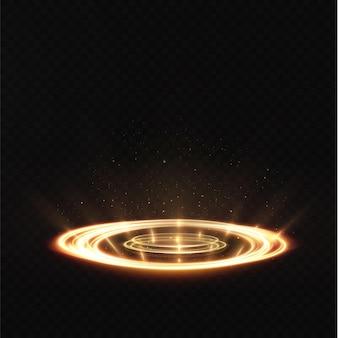 Hologramme d'effet lumineux de jeu de portail