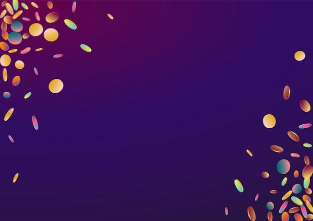 Hologramme pluie abstrait violet. motif de points supérieurs magiques.