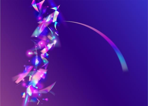 Hologramme scintille. effet irisé. fond de cristal. feuille de fête. modèle de noël rétro. art glamour. conception brillante. paillettes flou violet. paillettes hologrammes roses